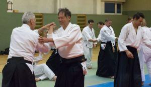 Aikidotraining in Kremsmünster / Kremstal mit Prof. Junichi Yoshida, April 2017 - Shihonage